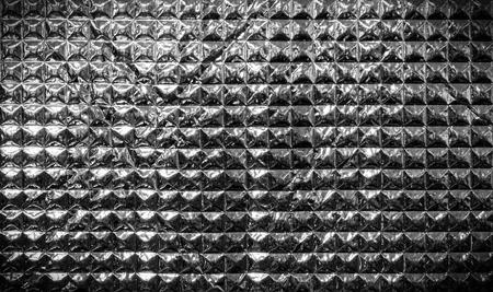 silver square design as metallic pyramid look photo