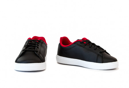 pair of kids shoe in black color on white background