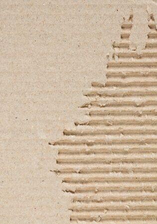 corrugate: detail inside of corrugate recycle carton paper Stock Photo
