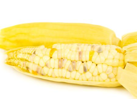 close up of steam corn Stock Photo