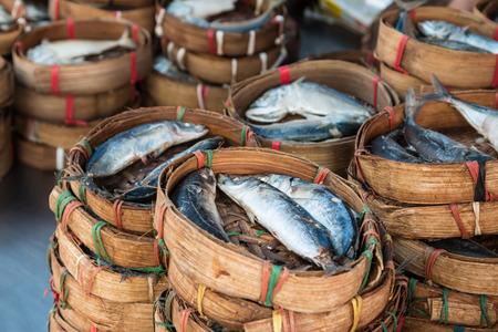 mackerel fish sale in asia local market