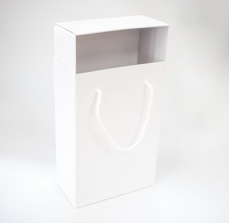 white shoebox on white background Stock Photo