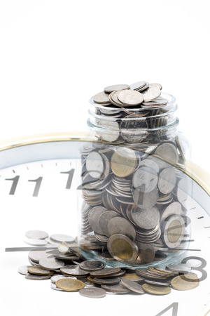 saving vs time concept Stock Photo