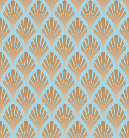 Art deco, great gatsby vector pattern with golden fans. Classic, retro, vintage illustration. Seamless pattern.