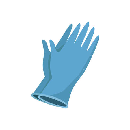 Sterile gloves for epidemic time. Coronavirus protection icon. Vector art.