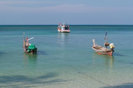 Three fishing boats on the beach Stock Photo - 13249605