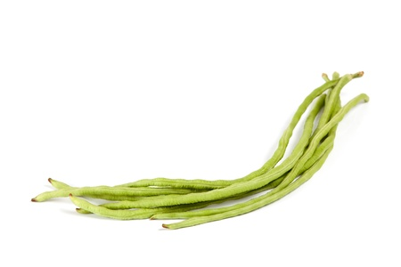 yardlong bean isolated on white background Stock Photo - 17370330