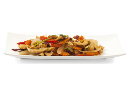 carot: thai food, chicken and cashew nuts with path