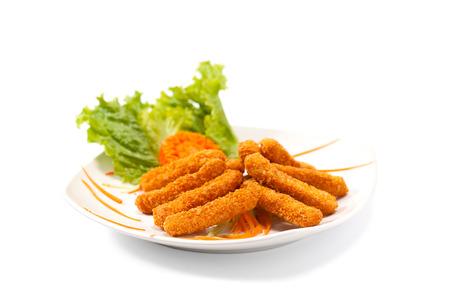 Fried cheese sticks  Фото со стока