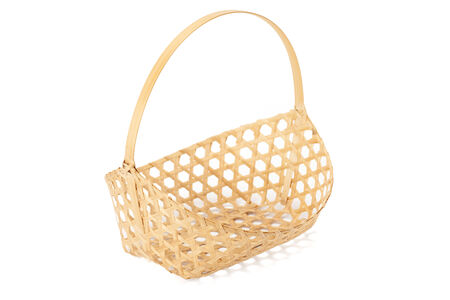 basketwork isolated on white background with path photo