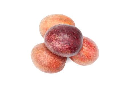 Fresh passion fruit isolated on white background photo
