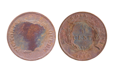 straits: 14 cent Straits Settlements East India Company 1845 coin