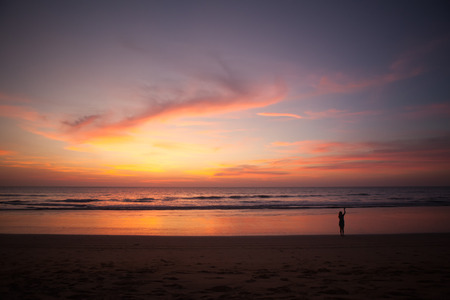 southern of thailand: twilight on the beach southern thailand Stock Photo