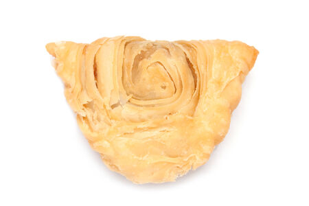 curry puff isolated on white background photo