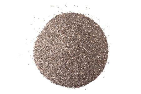 hispanica: chia seeds or salvia hispanica isolated on white background