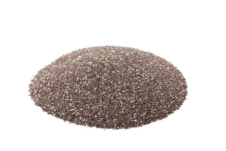 salvia hispanica: chia seeds or salvia hispanica isolated on white background