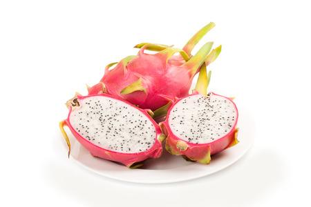 dragon fruit or Pitaya isolated on white background