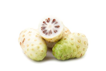 Noni fruit isolated on white background
