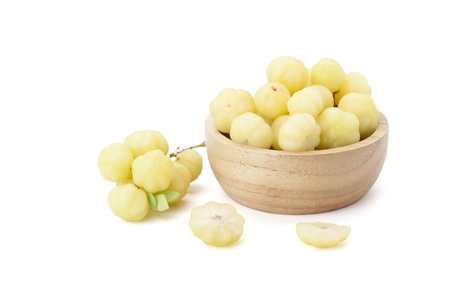 star gooseberry fruit isolated on white background with clipping path
