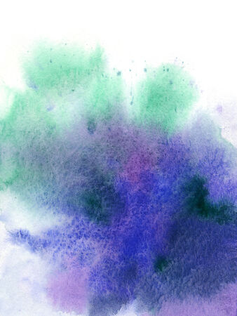 abstract watercolor blending on white paper   use for background