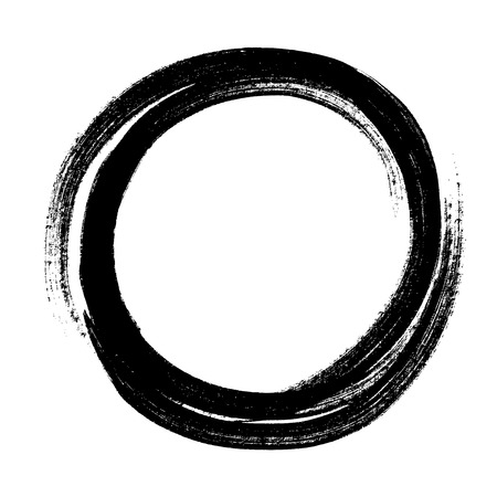 abstract circle hand draw by crayon use for background Stock Illustratie