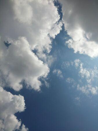 blue sky and big white cloud