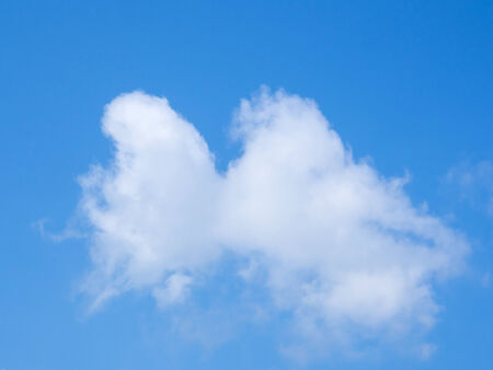 image of blue sky with white cloud use for bachground