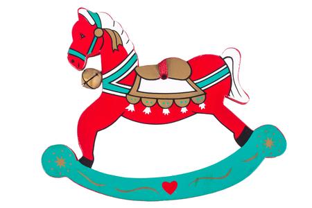 Christmas toy, Rocking horse isolated on white background