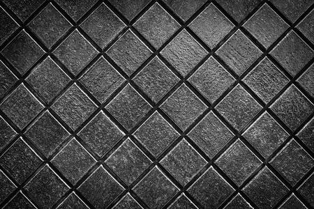bathroom wall: Dark grey smooth stone mosaic wall floor Stock Photo