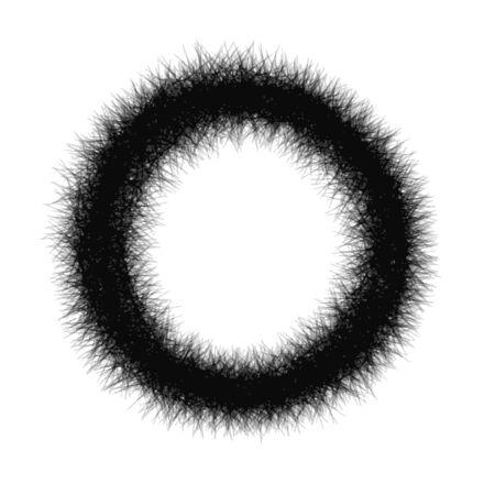 Astratto cerchio mano pareggio con l'uso del pastello per lo sfondo Archivio Fotografico - 40962976