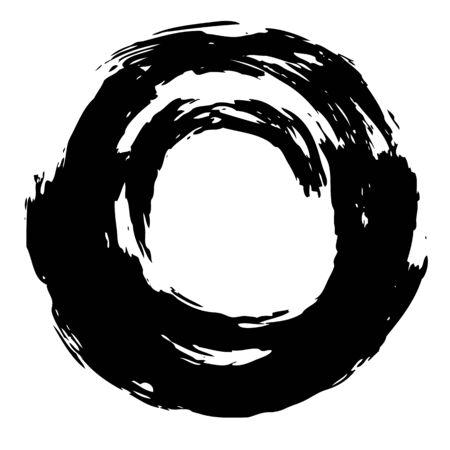 Astratto cerchio mano pareggio con l'uso del pastello per lo sfondo Archivio Fotografico - 40962978