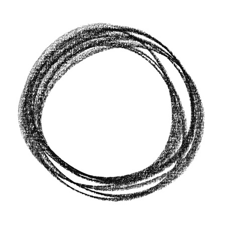 abstract circle hand drawn by crayon use for background