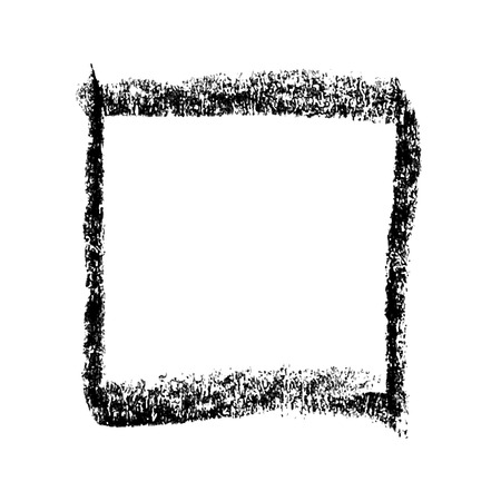square shape: doodle square hand drawn by crayon use for background Illustration
