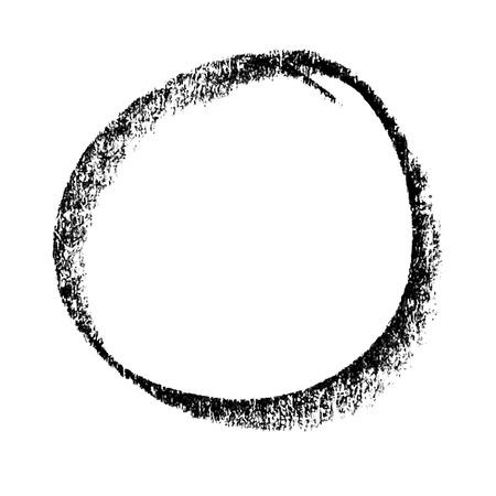 abstracte cirkel met de hand getekend door krijt gebruikt voor de achtergrond