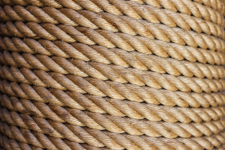 Roll of rope background detail