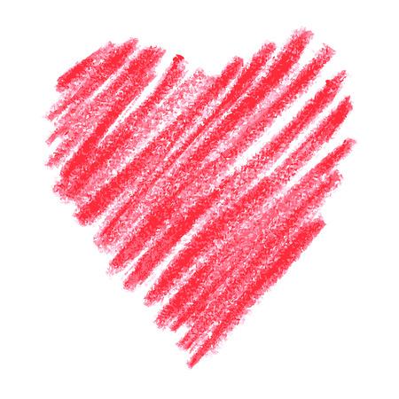 doodle abstracte hand getekende patroon hart vormgegeven op een witte achtergrond Stock Illustratie