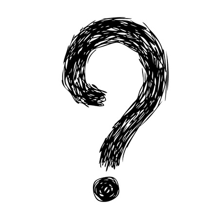 marks: freehand sketch illustration of question marks doodle hand drawn Illustration