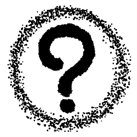 freehand sketch illustration of question marks doodle hand drawn Иллюстрация