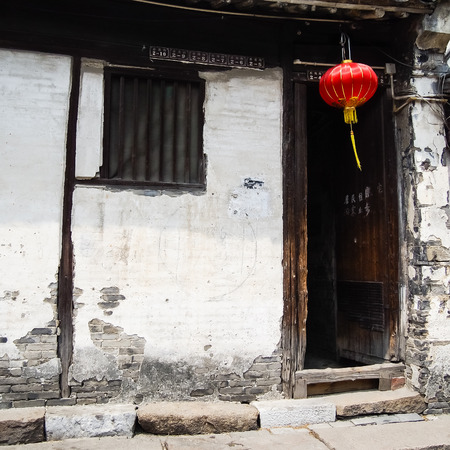 zhouzhuang: ZHOUZHUANG, SHANGHAI - April 11, 2011 : Zhouzhuang, the ancient water village is Shanghai tourist attraction with 1,000,000 visitors per year and there are a lot of variety activities have done here. Stock Photo