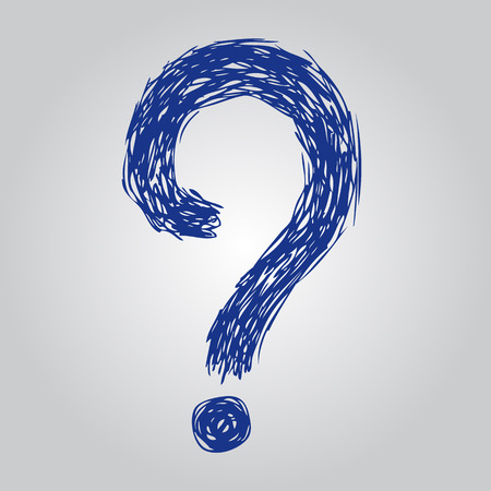 question marks: freehand sketch illustration of question marks doodle hand drawn Illustration