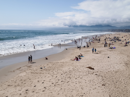 CALIFORNIA, UNITED STATES - April 1, 2012 : a part of Los Angeles , Venice Beach is popular by domestic residents for relaxing. Editorial
