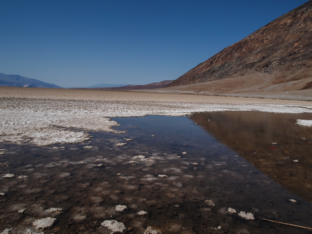 salt flat: view of Badwater Basin in Death Valley National Park , USA