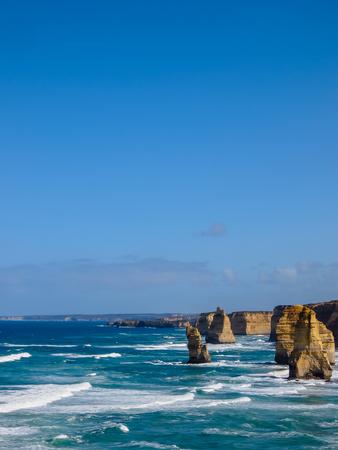 Beautiful view of Twelve Apostles, famous landmark along the Great Ocean Road, Australia Stock Photo - 95444981
