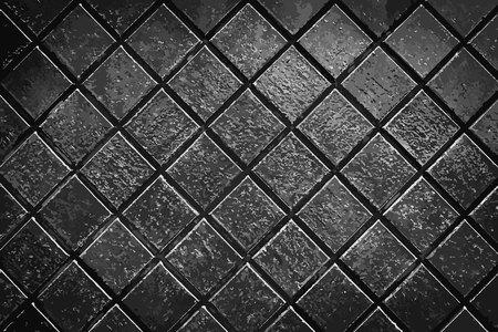 Dark grey smooth stone mosaic wall floor Ilustração