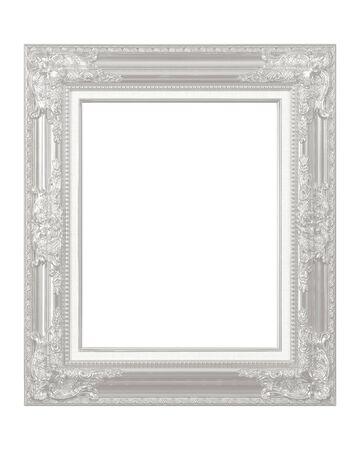 White vintage frame isolated on white background Stockfoto - 134837126