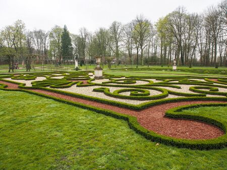 Beautiful garden, European style in The Netherlands.