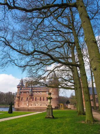 Beautiful romantic Holland castle on water , Kasteel De Haar