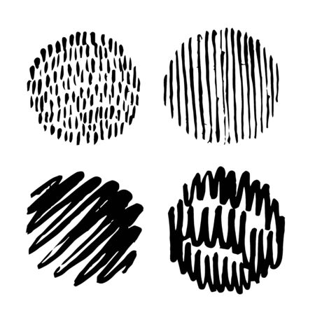 circle abstract doodle hand drawn icon