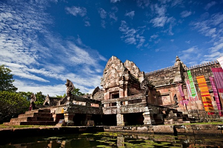 Ancient castle (Panomrung) in thailand  photo