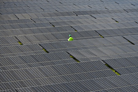 photovoltaic panels solar field  photo